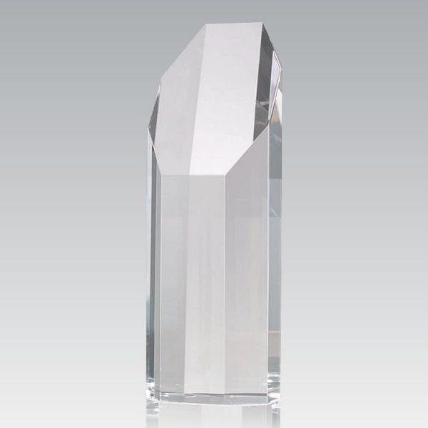 blank crystal hexagon tower award