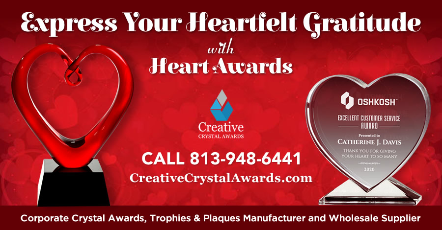 Express Your Heartfelt Appreciation With These 7 Creative Heart Shaped Crystal Award Ideas