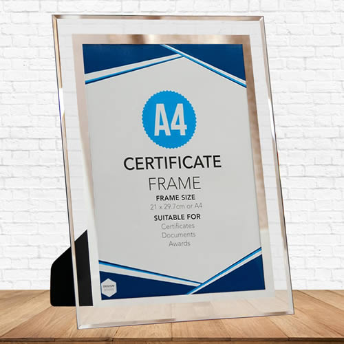 A4 crystal certificate frame