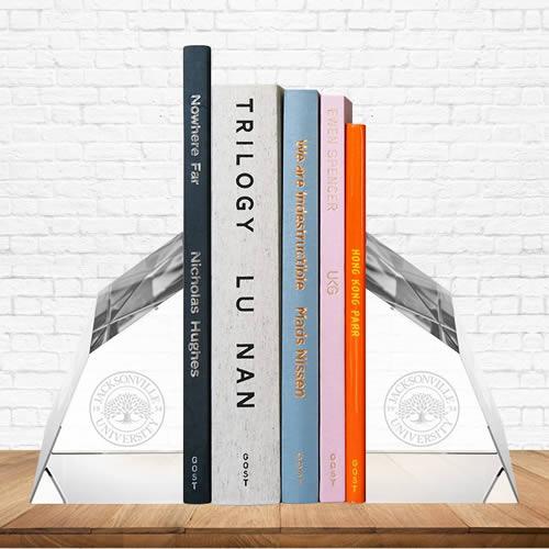 angular crystal bookends gift award
