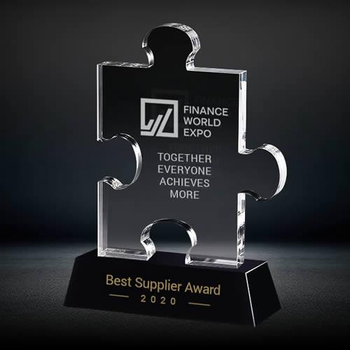 crystal puzzle piece award
