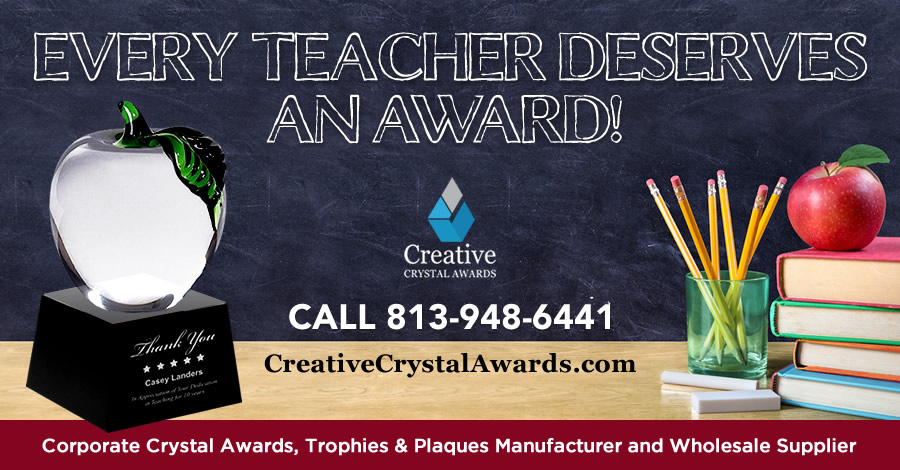 8 Wonderful Crystal Awards Ideas for Great Teachers Who Deserves Recognition