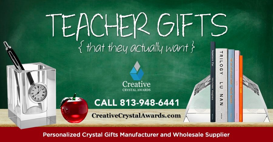 8 Thoughtful and Useful Personalized Crystal Gift Ideas for Teachers
