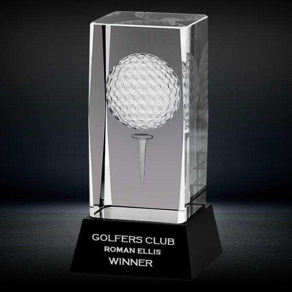 3d crystal golf award