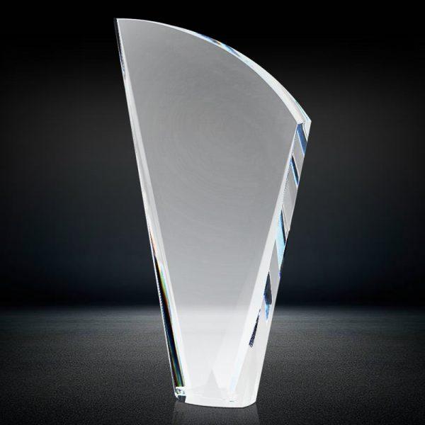 blank crystal fan trophy