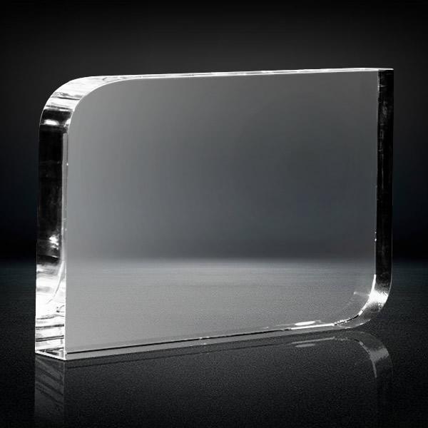 blank crystal rounded corner rectangle award