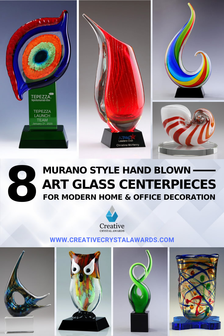 decorative art glass centerpiece
