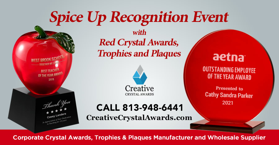 7 Red Crystal Awards that will Instantly Spice Up Any Recognition Awards Program