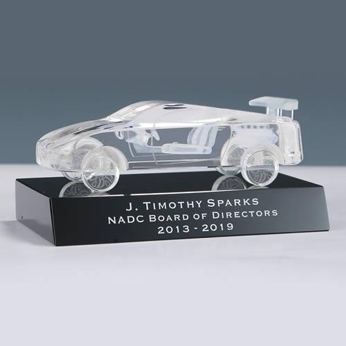 3d crystal auto show trophy award