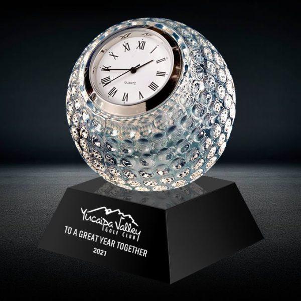 crystal golf ball clock