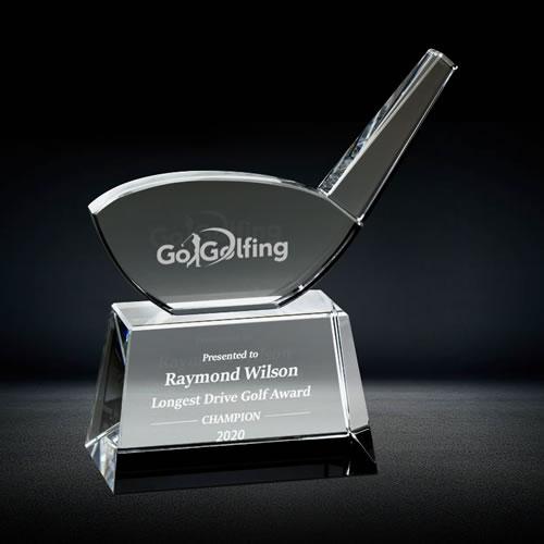 golf driver crystal award