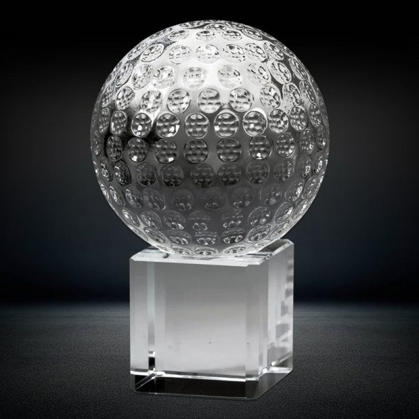 optical crystal golf ball souvenir gift