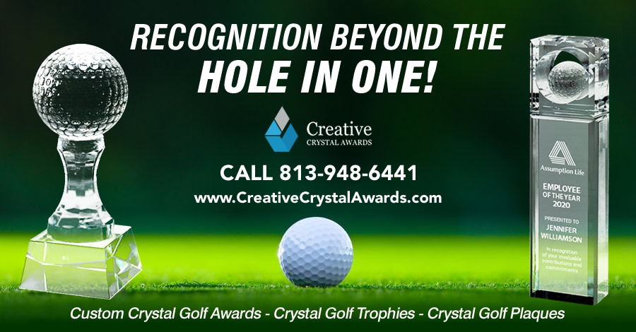8 Creative Crystal Golf Awards for Golf Events & Golf Tournaments