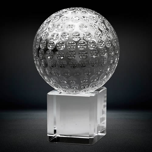 sports crystal golf ball souvenir gift