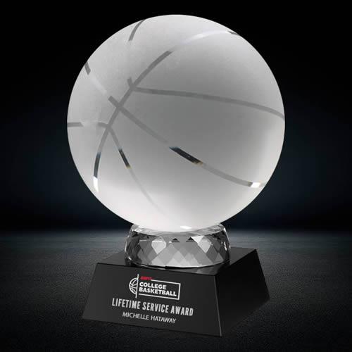 basketball crystal award