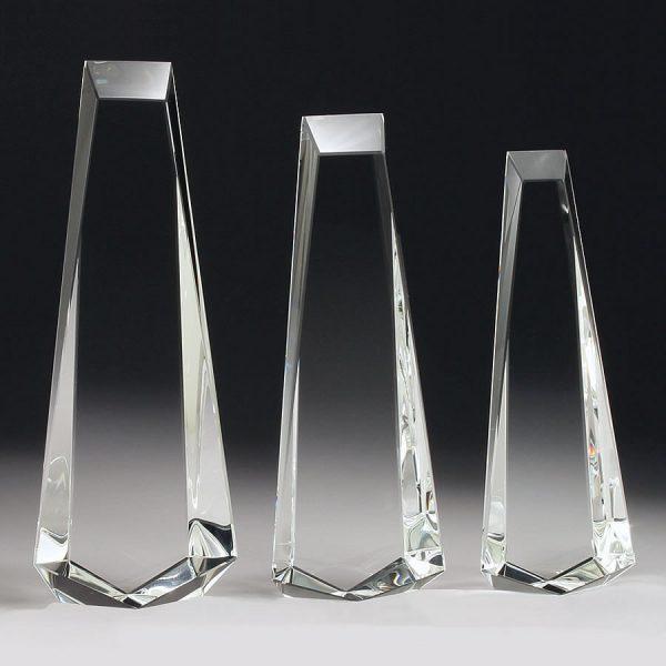 blank crystal obelisk award