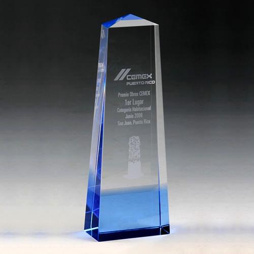 blue crystal obelisk award