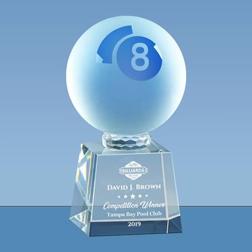 crystal pool 8 ball award