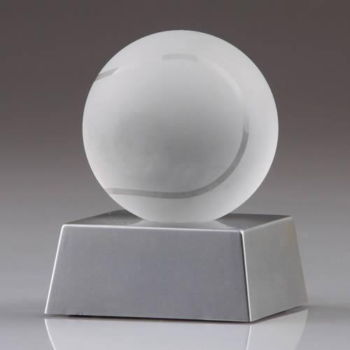 crystal tennis ball award