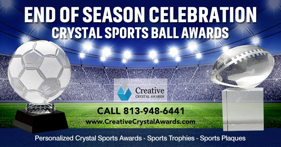 8 Impressive Crystal Sports Ball Awards to Celebrate a Great Season