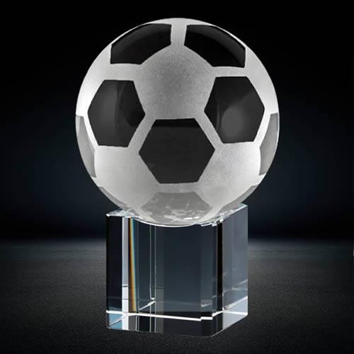 soccer ball crystal award