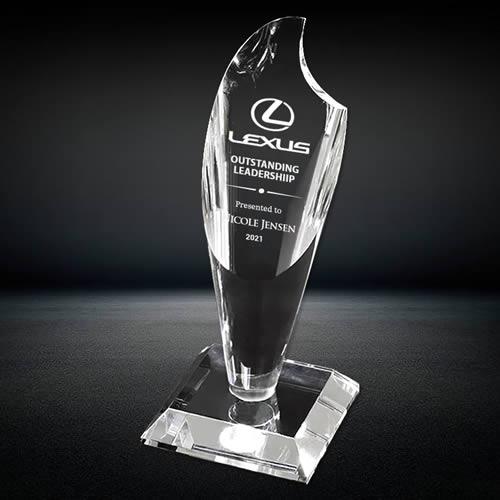 torch crystal trophy