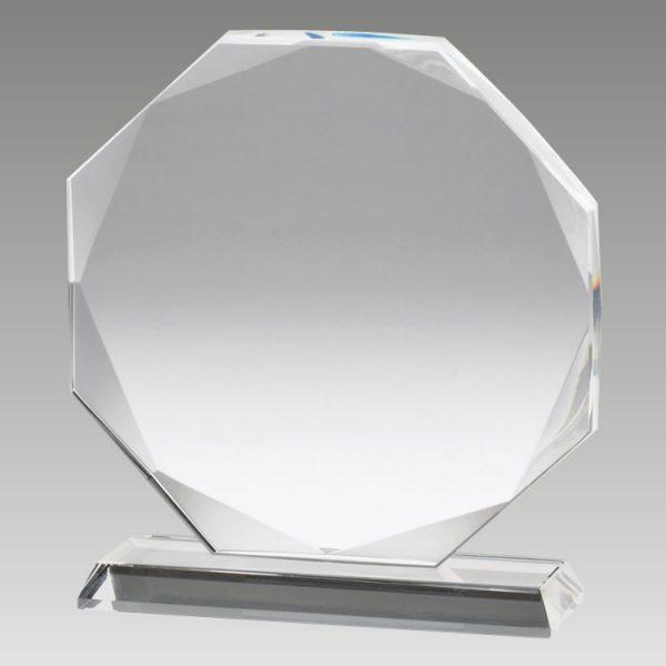 blank crystal octagon plaque award