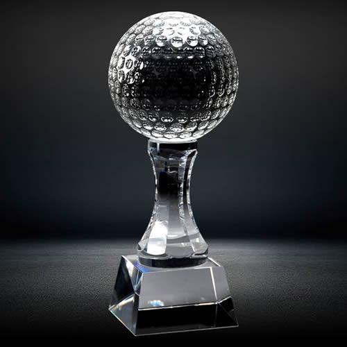 golf ball crystal trophy award