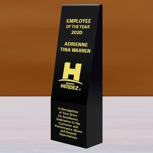 black crystal wedge tower award