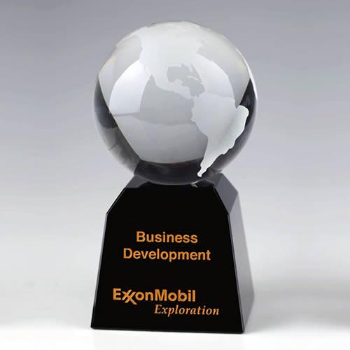 crystal globe trophy award