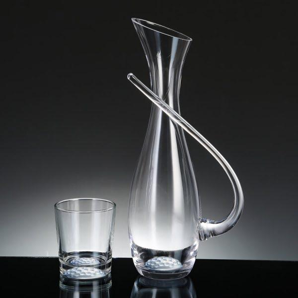 crystal golf ball wine carafe set