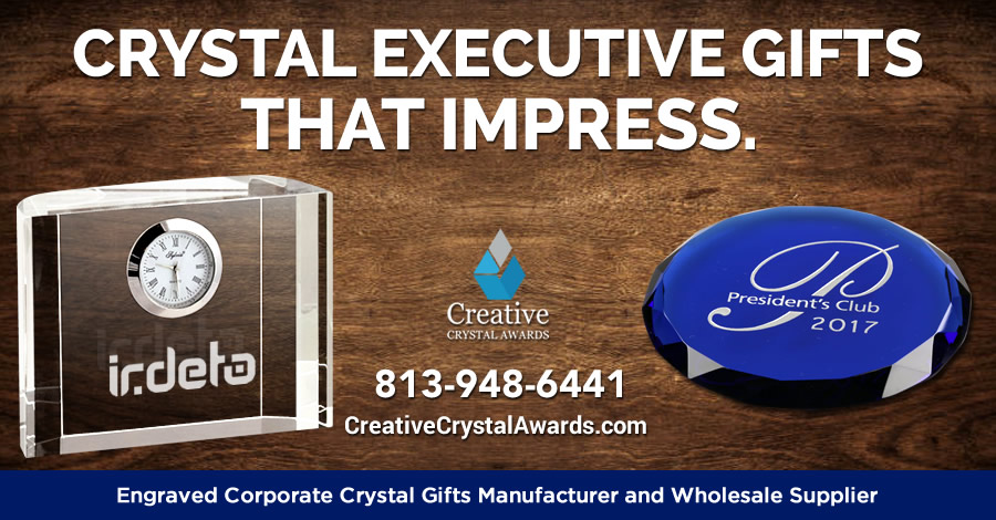 9 Impressive Personalized Crystal Executive Gift Ideas