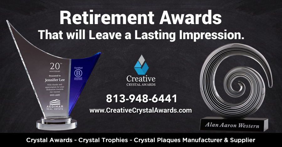 8 Unique & Meaningful Custom Crystal Retirement Awards Ideas