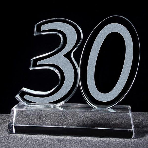 crystal 30 years award