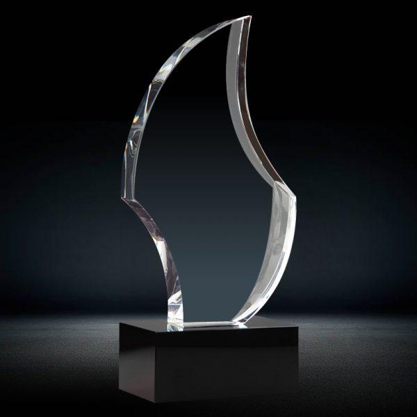 custom cut crystal trophy blank