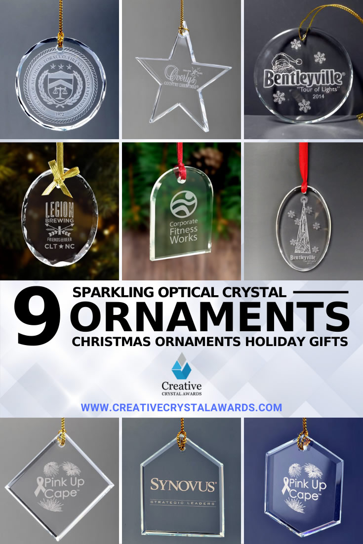 engraved crystal ornaments