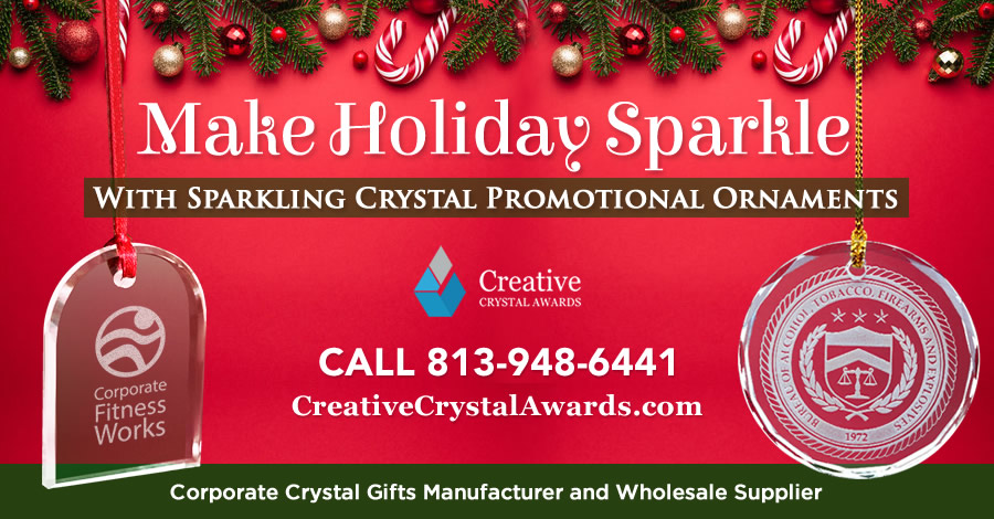 Spread The Joy With These 9 Crystal Promotional Ornaments