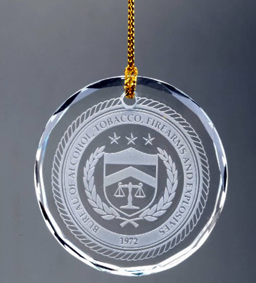 faceted crystal round ornament