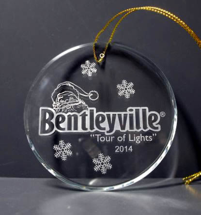 round crystal ornament beveled glass ornament