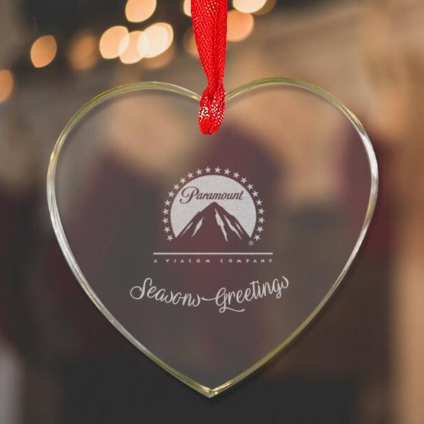 heart crystal ornament